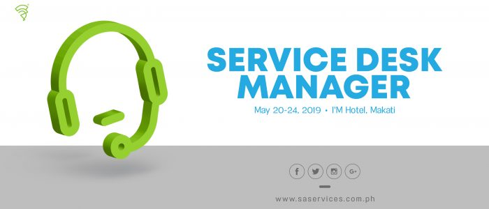 Certified Service Desk Manager